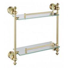 TG2811-2 Полка стеклянная 2х-ярусная золотая