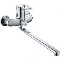 R4863F Смеситель для ванны с длинным изливом (35см), переключатель на душ в корпусе смесителя, силуминовый