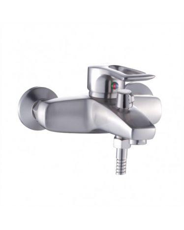 Смеситель для ванны коротким изливом. Сатин. Переключатель поворотный T4802AL (картридж ⌀ 40мм)